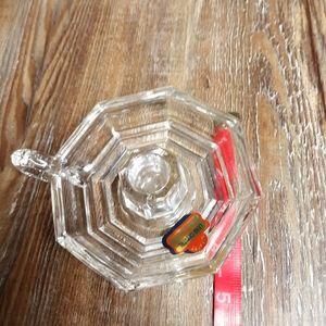 Vintage Accents - vintage lead crystal glass candle holder